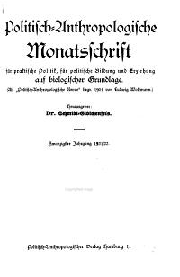 Politisch anthropologische Monatsschrift PDF
