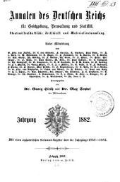 Annalen des Deutschen Reichs für Gesetzgebung, Verwaltung und Volkswirtschaft