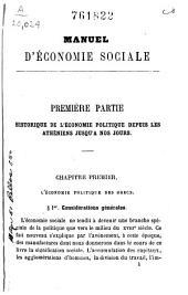 Manuel d'économie sociale ...