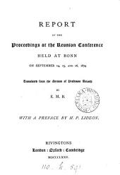 Report of the proceedings at the Reunion conference, tr. from the Germ. of professor Reusch by E.M.B.