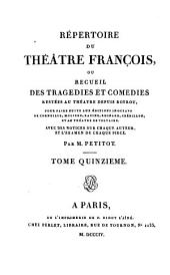 """Répertoire du Théâtre François: """"Comédies."""""""