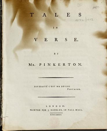 Tales in Verse  By Mr  Pinkerton PDF