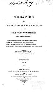 A Treatise on the Principles and Practice of the High Court of Chancery: Under the Following Heads : I. Common Law Jurisdiction of the Chancellor. II. Equity Jurisdiction of the Chancellor. III. Statutory Jurisdiction of the Chancellor. IV. Specially Delegated Jurisdiction of the Chancellor, Volume 1