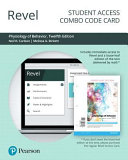 Revel for Physiology of Behavior    Combo Access Card
