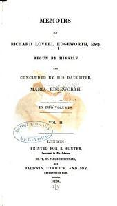 Memoirs of Richard Lovell Edgeworth, Esq: Volume 2