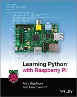 Learning Python with Raspberry Pi PDF