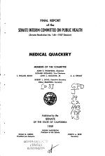Medical Quackery: Final report