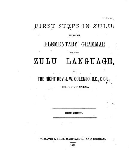 First Steps in Zulu PDF