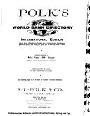 Polk's World Bank Directory