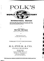 Polk's World Bank Directory