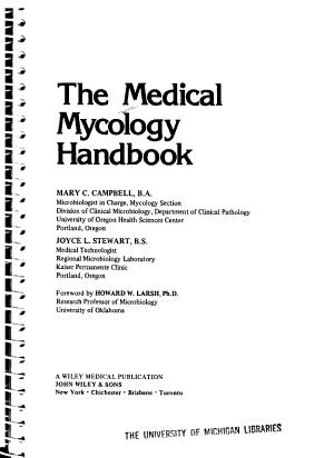 The Medical Mycology Handbook PDF