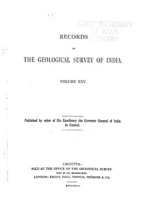 Records of the Geological Survey of India PDF