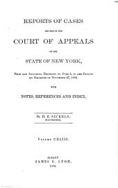 Reports of Cases Decided in the Court of Appeals of the State of New York: Volume 143