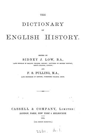 The Dictionary of English History PDF