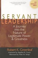 Servant Leadership  25th Anniversary Edition  PDF