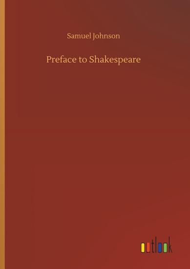 Preface to Shakespeare PDF