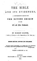 The Bible and Its Evidences   Second Edition  Revised and Enlarged    PDF