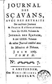 Journal des sçavans, avec des extraits des meilleurs journaux de France et d'Angleterre: Volume11