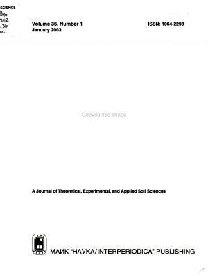 Eurasian Soil Science PDF