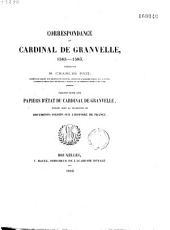 Correspondance du Cardinal de Granvelle: 1565-1586