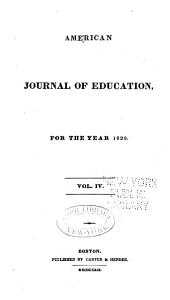 American Journal of Education: Volume 4