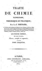 Traite de chimie elementaire theorique et pratique: Volume5