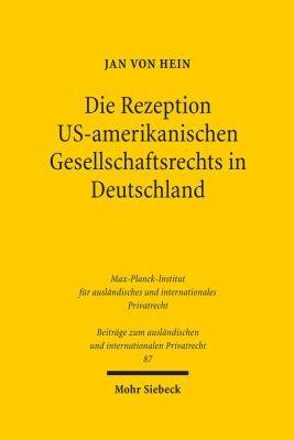 Die Rezeption US amerikanischen Gesellschaftsrechts in Deutschland PDF