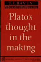 Plato s Thought in the Making PDF