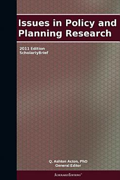 Issues in Policy and Planning Research  2011 Edition PDF