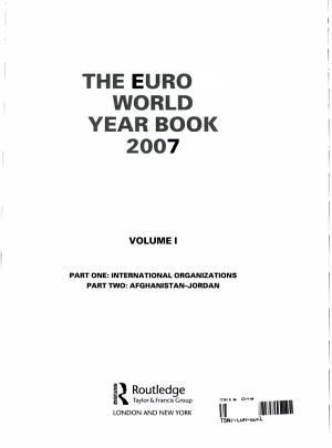 The Europa World Year Book 2007 PDF