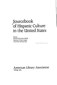 Sourcebook of Hispanic Culture in the United States PDF