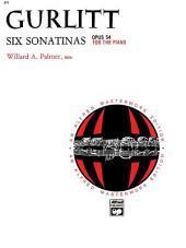 6 Sonatinas, Op. 54: Piano Sheet Music - Alfred Masterwork Edition