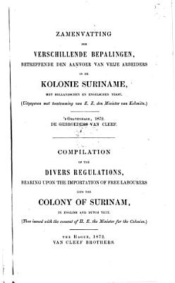 Compilation of the divers regulations