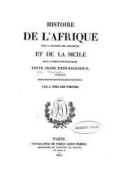 Histoire de l'Afrique sous la dynastie des Aghlabites et de la Sicile sous la domination musulmane