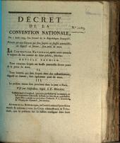 Decret de la Convention Nationale: Volume 1083