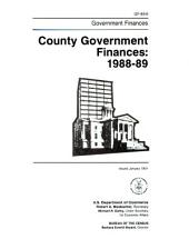 County Government Finances in ...