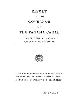 Report of the Governor of the Panama Canal PDF