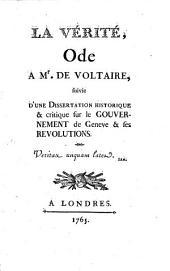 La Vérité: Ode à M. de Voltaire