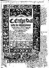 De coniuratione S. Catilinae historia
