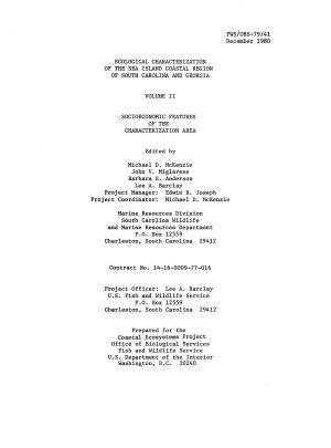 Ecological Characterization of the Sea Island Coastal Region of South Carolina and Georgia PDF