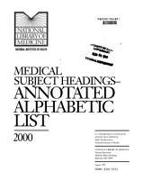 Medical Subject Headings PDF