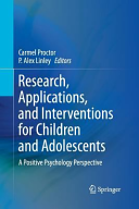Research  Applications  and Interventions for Children and Adolescents
