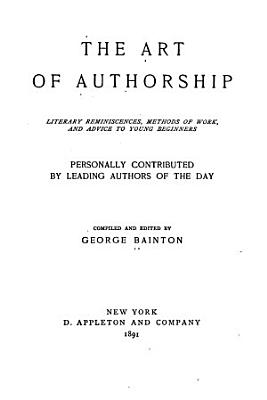 The Art of Authorship PDF