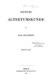 Deutsche Altertumskunde: Band 1