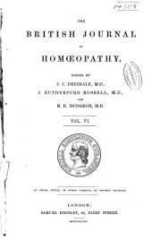 The British Journal of Homoeopathy: Volume 6