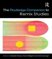 The Routledge Companion to Remix Studies PDF