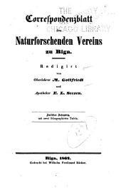 Korrespondenzblatt des Naturforscher-Vereins zu Riga ...: Bände 12-14