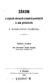Zákon o sýpkách obecných a fondech peněžných k nim příslušících v královstvi českém