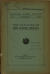 Maryland School Bulletin: Volume 3, Issue 10