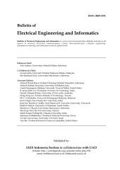 Bulletin of Electrical Engineering and Informatics: Vol 3, No 2: June 2014